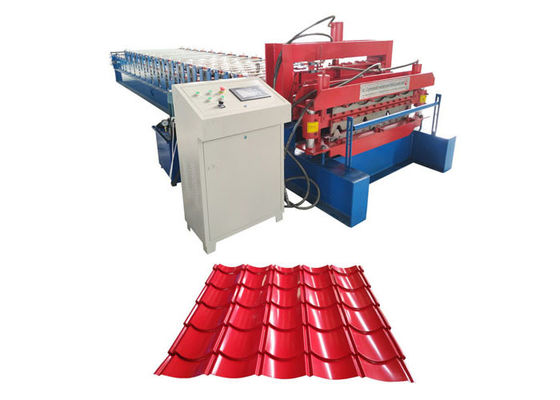 China Rib Roof / Corrugated Steel Panel Roll Forming Machine With Hydraulic Driving System supplier