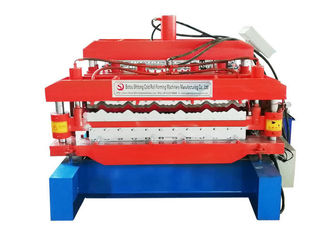 Color Steel Double Layer Roll Forming Machine Glazed Bamboo Type High Automation Degree