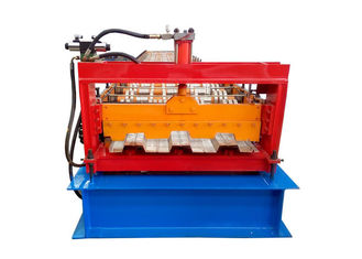 China PLC Control System Floor Deck Roll Forming Machine For Construction Building supplier