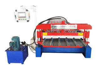 China Zinc Plating Colored Steel Profile Roll Forming Machine Speed 20-25 M / Min supplier