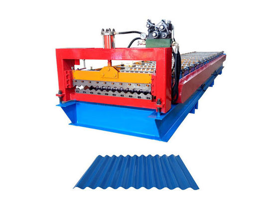 China Building Material Corrugated Steel Panel Roll Forming Machine Roller Diameter 80MM supplier