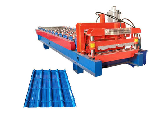 Power 4+4 Kw Glazed Tile Roll Forming Machine Bamboo Shape Productivity 1-4 M/Min