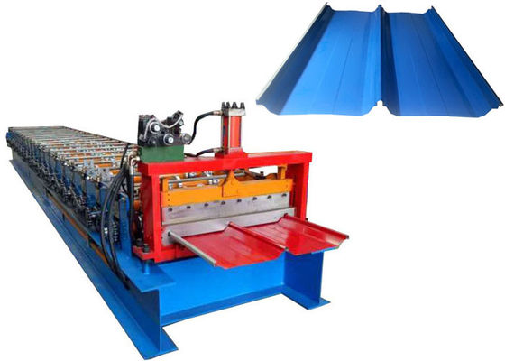 China Weight 8 Tons Standing Seam Roll Forming Machine Voltage 380V 50Hz 3 Phases / Customized supplier