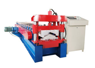 China Customized Color Ridge Cap Roll Forming Machine Thickness 0.3-0.7mm Decoiler Width 500mm supplier