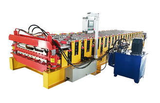 China Roofing And Wall Sheet Double Layer Roll Forming Machine With Digital Control supplier