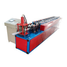 Plc Control Roller Shutter Door Roll Forming Machine For Purlin Production