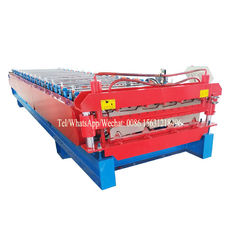 China Roofing Metal Steel Flat Sheet Double Layer Roll Forming Machine With Two Designs supplier