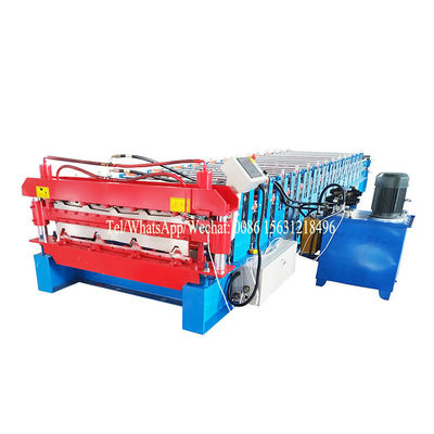 China Customized Double Layer Forming Machine Roof Automatic Tile Roll Making supplier