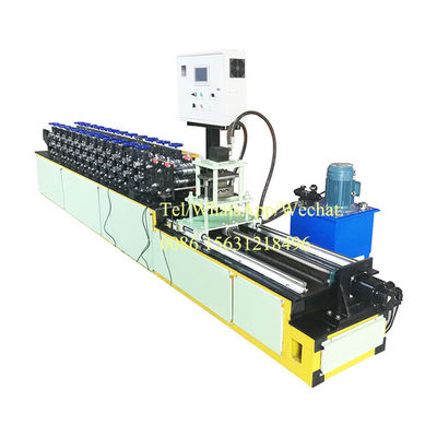 China Metal Roof Panel Light Steel Keel Roll Forming Machine For Cd Ud Stud Track Profile supplier