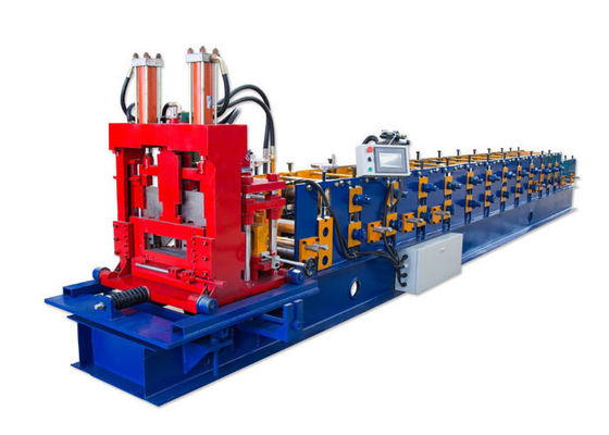 China Flexible Operation Lip Channel Roll Forming Machine , C Z U Steel Roll Forming Machine factory