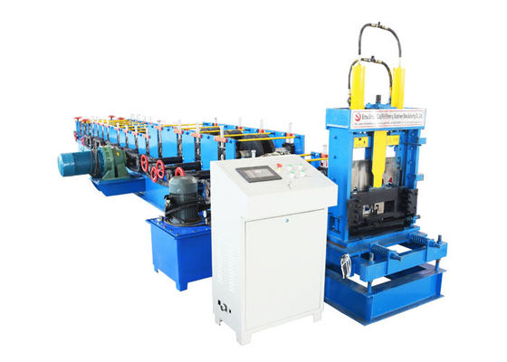 China Cold Steel C And Z Purlin Machine , Profile Rolling Shutter Strip Making Machine distributor