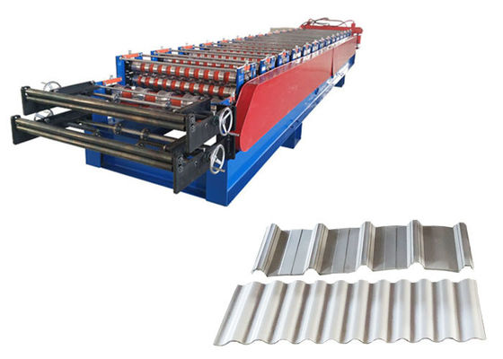 China Efficient Aluminum Roll Forming Machines , Metal Roof Making Machine Chains 1 Inch factory