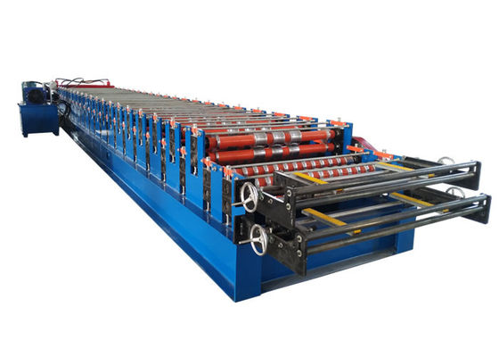 China Double layer roll forming machine metal roofing corrugated steel sheet wall panel tile making machine factory