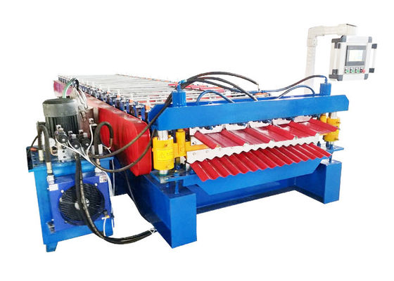 Hydraulic Driving Double Layer Roll Forming Machine Suitable Thickness 0.3-0.8mm