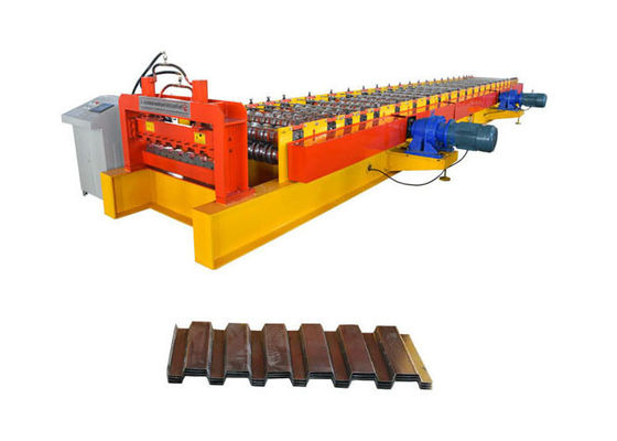 China Easy Operate Floor Deck Roll Forming Machine Effective Width 1000mm For Building Construction factory