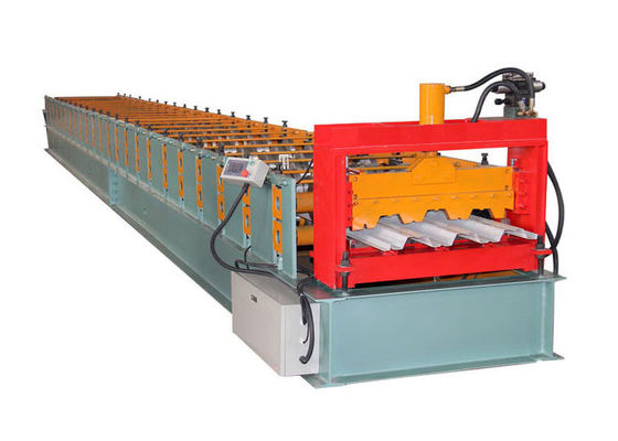 China Automatic Cold Roll Forming Machine , 25 Stations Floor Decking Forming Machine factory