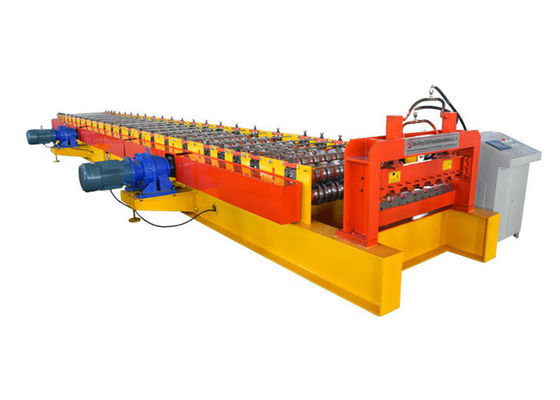 China Power 15 Kw Metal Deck Roll Forming Machine Dimension 15000*1200*1100mm CE Certification factory
