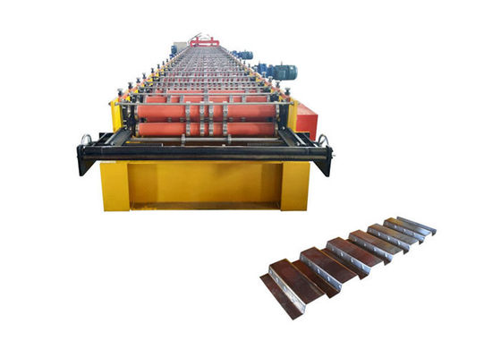 China Hot Roll Steel Deck Roll Forming Machine Speed 8-12 M/Min For High Building Floor Sheet factory