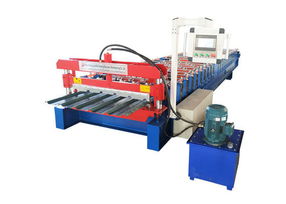 Color Paint Metal Roofing Sheet Making Machine With Double Cylinder Cutter