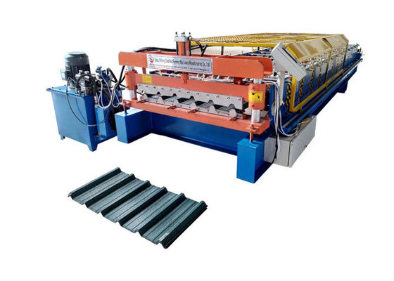 China High Speed Aluminum Roll Forming Machines , Metal Roof Rolling Machines With Hydraulic Power factory