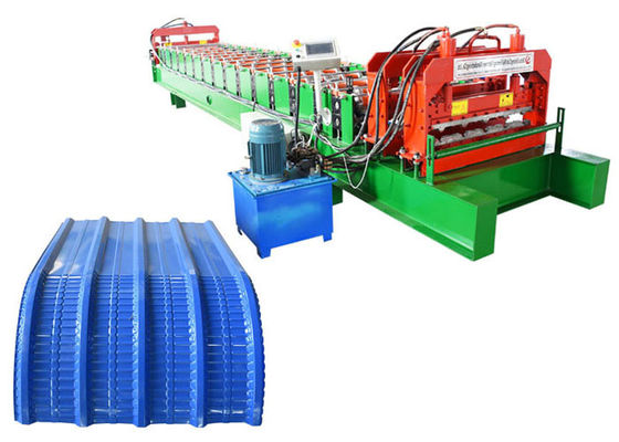 China roofing sheet profile crimping curving arch roll forming machine factory
