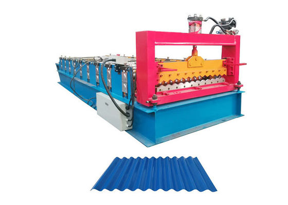 China Galvanized Steel Corrugated Sheet Roll Forming Machine Working Speed 10-15 M/Min factory