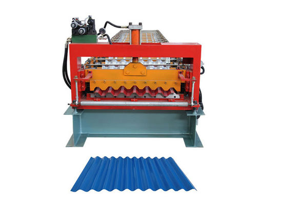 China Coil Width 1000mm Corrugated Sheet Roll Forming Machine For Roof Panel Sheet Making factory