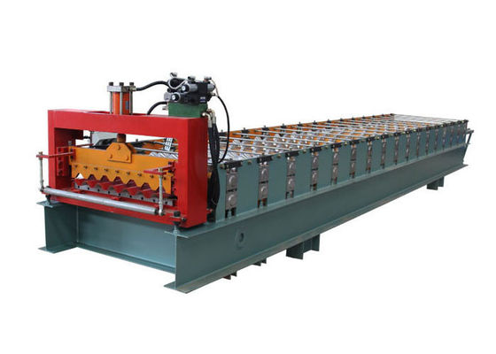 China Weight 3.5 Tons Corrugated Sheet Roll Forming Machine Raw Material Thickness 0.3-0.8 MM distributor