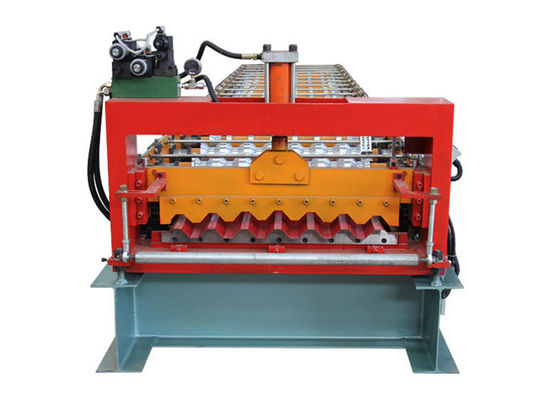 China PLC Program Corrugated Roof Sheet Making Machine Automatic Producing With Hand Touch Screen factory