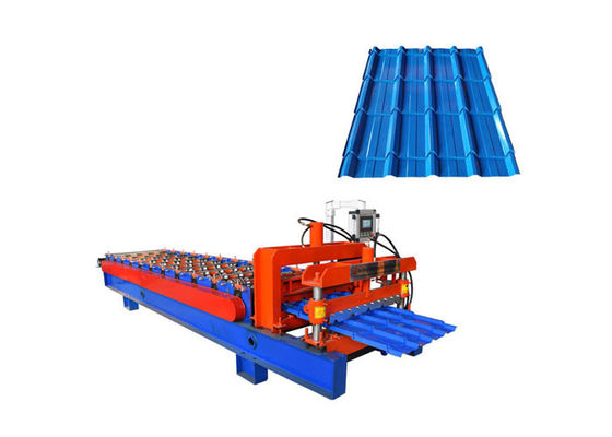 China 840mm Width Glazed Tile Roll Forming Machine Connect Bar 25mm For Flat Sheet And Tile factory