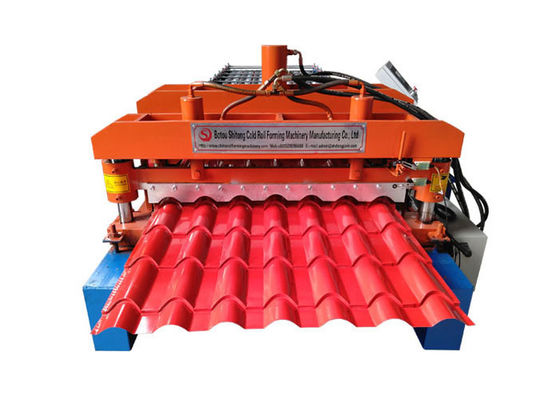 China Automatic Glazed Tile Making Machine , Corrugated Wall Panel Roll Forming Machine factory