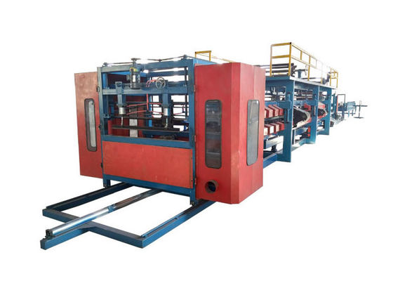 China Rock Wool Sandwich Panel Forming Machine / Sandwich Panel Machine Line Size 30*2.2*2.5m factory