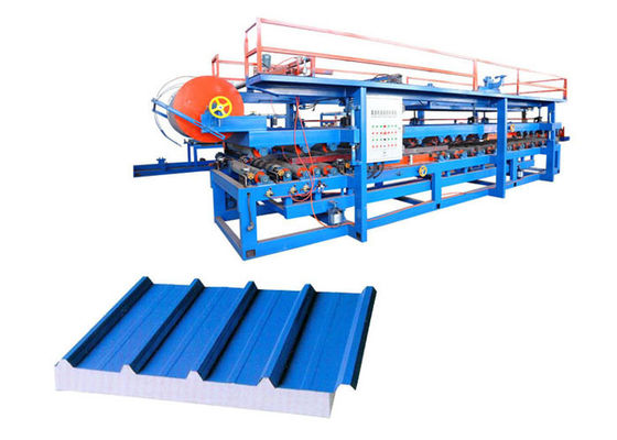 China Fireproof Roofing Sandwich Panel Production Line Raw Material Width 1000 / 1200mm factory