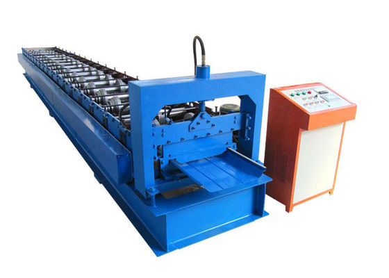 China Easy Install Standing Seam Roll Forming Machine Size 7.6*1.4*1.5m With Hydraulic System distributor