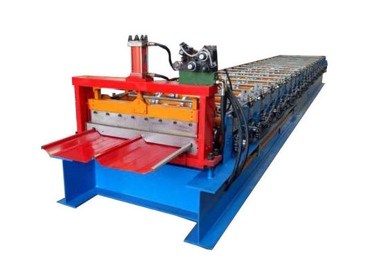 China Cr12 Cutter Standing Seam Roll Forming Machine Self Lock Plate Feeding Thickness 0.3-0.9mm factory