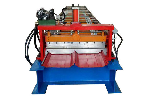 China Self Locked Strip Standing Seam Machine , Roof Panel Roll Forming Machine 20 Rows Roller factory