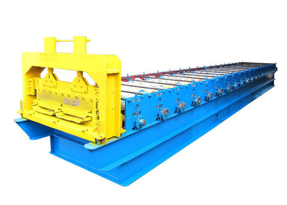 China Steel PPGI Roofing Sheet Roll Forming Machine , Strong Frame Standing Seam Roll Former distributor