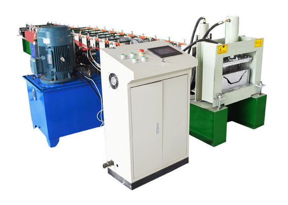 China A/C Motor Downspout Roll Forming Machine , Gutter Bending Machine For Drainage System distributor