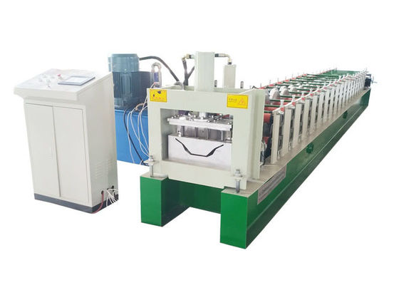 China Waterproof Gutter Roll Forming Machine Material Thickness 0.3-0.8mm With Punch Hole Device distributor