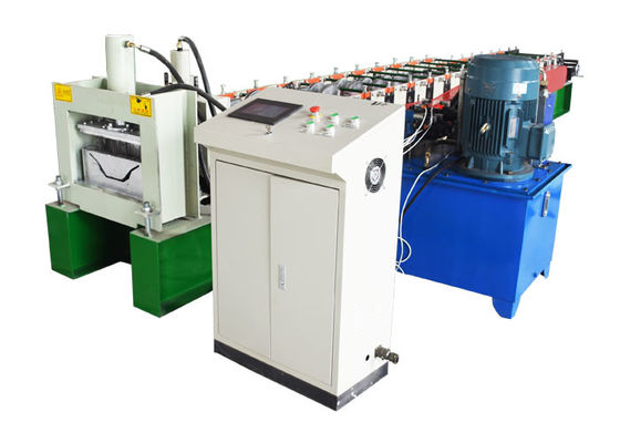 China Cold Steel Hydraulic Decoiler Machine , Gutter Roll Forming Machine Customized Color factory