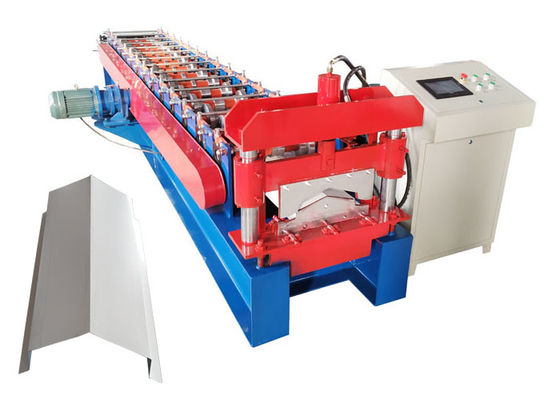 China Computer Control Ridge Cap Roll Forming Machine 15 Forming Steps With Hydraulic Cutter distributor