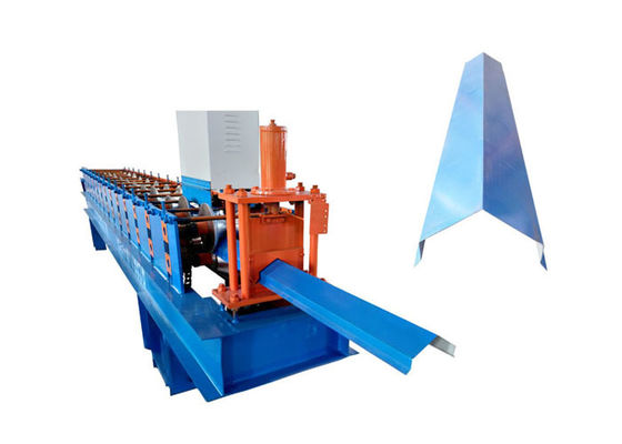 China PPGI Steel Roofing Ridge Cap Roll Forming Machine With Hand Touch PLC Program factory
