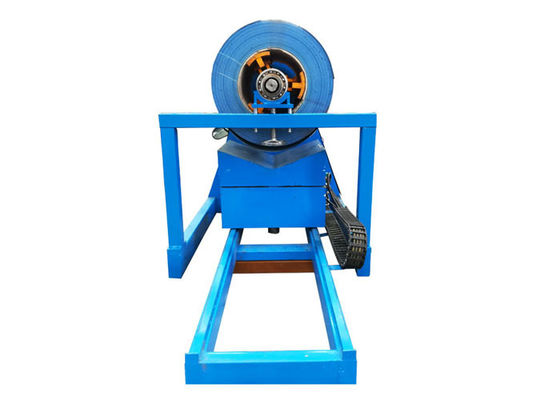 China Capacity 10 Ton Hydraulic Decoiler Machine Uncoiling Speed 15 M/Min For Glazed Metal Roofing factory