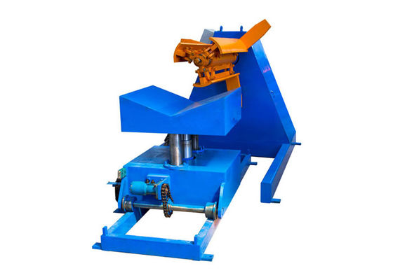 China Durable Hydraulic Decoiler Machine , Manual Decoiler Machine Raw Material GI / PPGI distributor