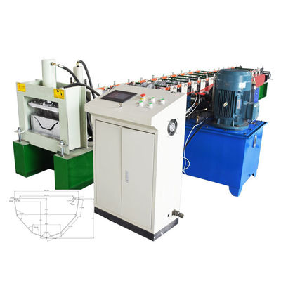 China Automatic Gutter Roll Forming Machine / Gutter Making Machine For Waterproof Construction factory