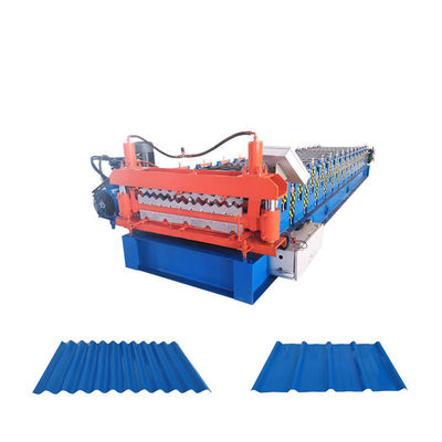 China Double Layer Trapzoidal Sheet Metal Roll Forming Machines Corrugated Making distributor