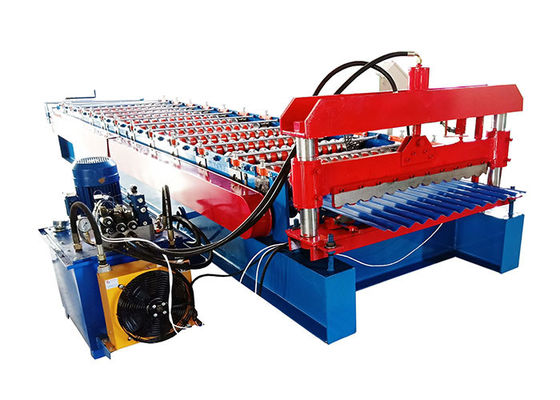 China Popular Corrugated Steel Roofing Sheet Roll Forming Machine For Wall And Roof Of House distributor