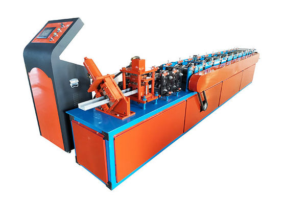 China Steel Frame Light Keel Roll Forming Machine With Hydraulic Punching System factory