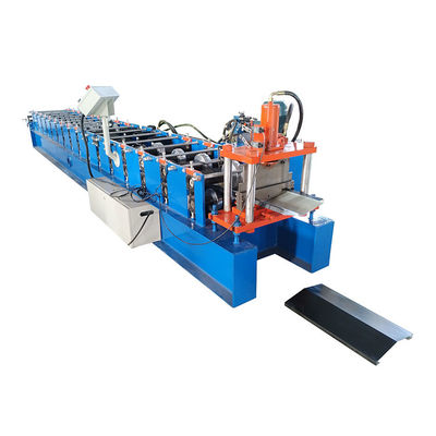 China Galvanized Ridge Cap Machine Watershed Roofing Panel Making Machine distributor