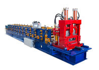 Interchanged Section Z Purlin Making Machine , Cold Roll Forming Equipment Length Accurately